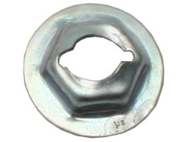 "Speed Nut 1/4"" Stud 7/16"" Hex 11/16"" Washer"
