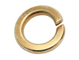 "Spring Washer 7/8"" X 1/4"" X 7/32"" Gold Passivate"