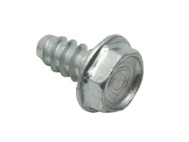 "Bolt Hex Washer HD 10g - 16 X 3/8"" Zp Tap Silver"