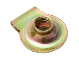 "J Nut Round Type 5/16""- 18 Gold Zinc"