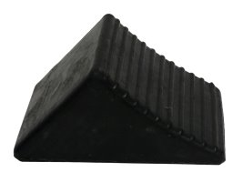 Wheel Chock Rubber Small 205l X 130w X 100h