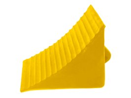 Wheel Chock Rubber Large 260l X 180w X 210h Yellow